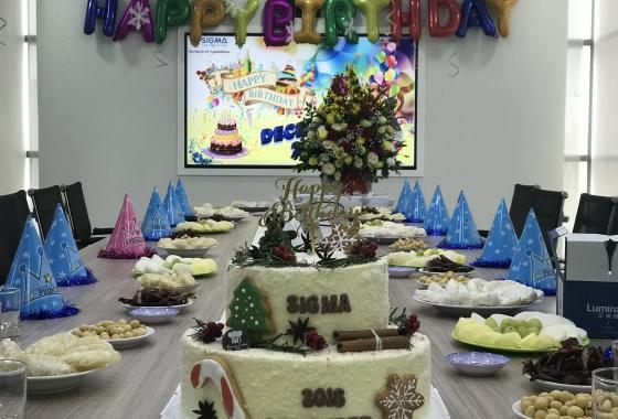 Tiệc sinh nhật tháng 12 tại Sigma – Đong đầy yêu thương ngày cuối năm