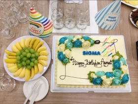 Sigma celebrates the August birthday party for employees