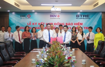 Signed an insurance contract for Ben Tre Wind Farm V1-3 project