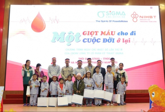 The 3rd blood donation program at Sigma - A drop of blood, a life to live