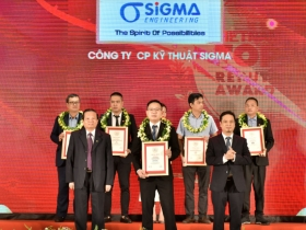 Sigma attended the ceremony to honor Top 5 prestigious M&E Contractors in 2020