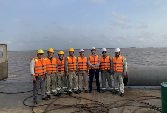 Sigma's pride on the site of Ben Tre wind farm project