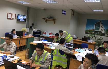 The process of M&E execution at Hanoi French International project in the 23rd week