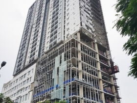 Updated progress at SHP Plaza Hai Phong in the 92nd week