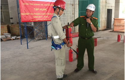The Legend carried out Fire Protection training program